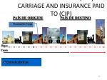 carriage paid to cpt carriage and insurance paid to cip