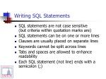 writing sql statements