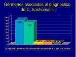 g rmenes asociados al diagnostico de c trachomatis