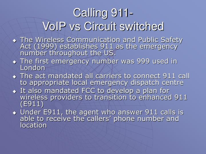 Calling 911-