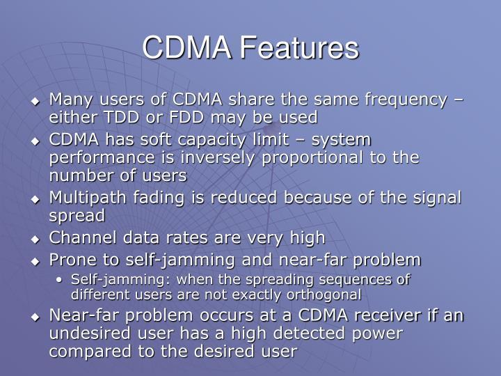 CDMA Features