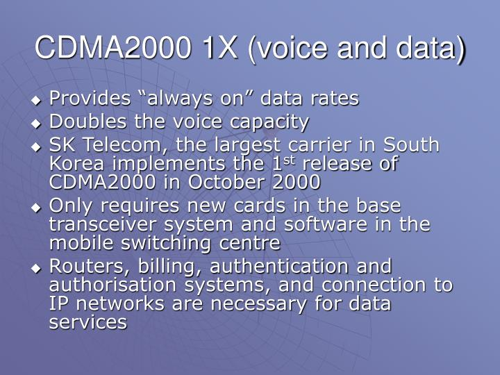 CDMA2000 1X (voice and data)
