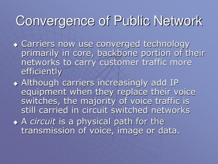 Convergence of Public Network