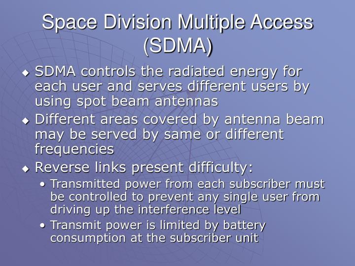 Space Division Multiple Access (SDMA)