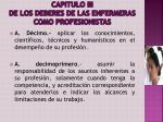capitulo iii de los deberes de las enfermeras como profesionistas