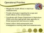 operational priorities