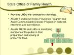 state office of family health