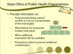 state office of public health preparedness