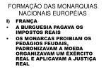 forma o das monarquias nacionais europ ias1