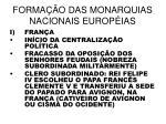 forma o das monarquias nacionais europ ias2