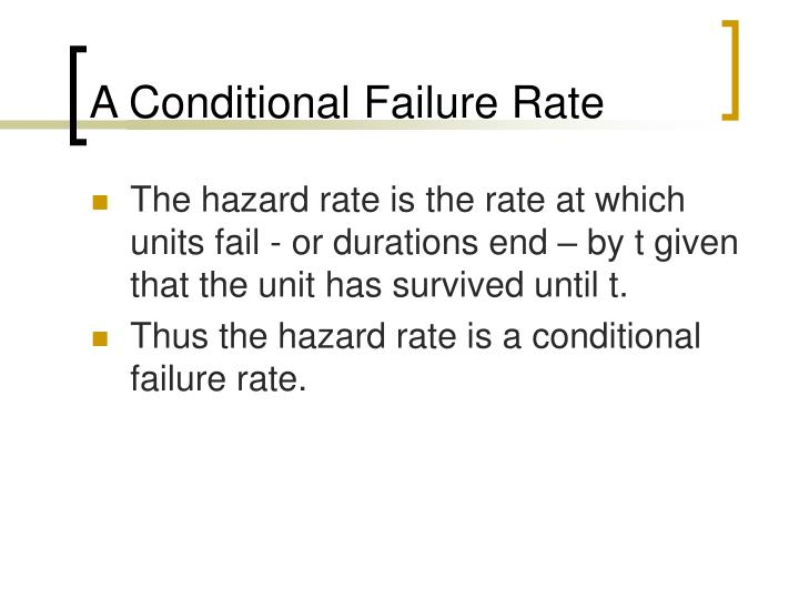 A Conditional Failure Rate