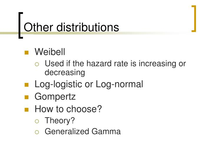 Other distributions
