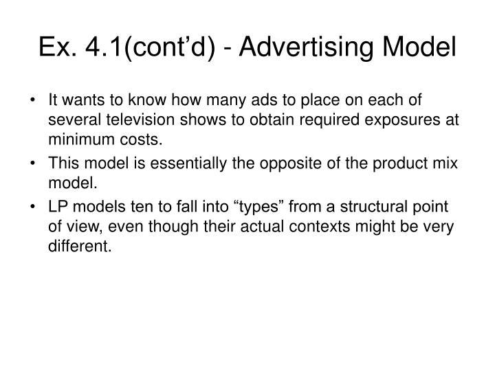Ex 4 1 cont d advertising model