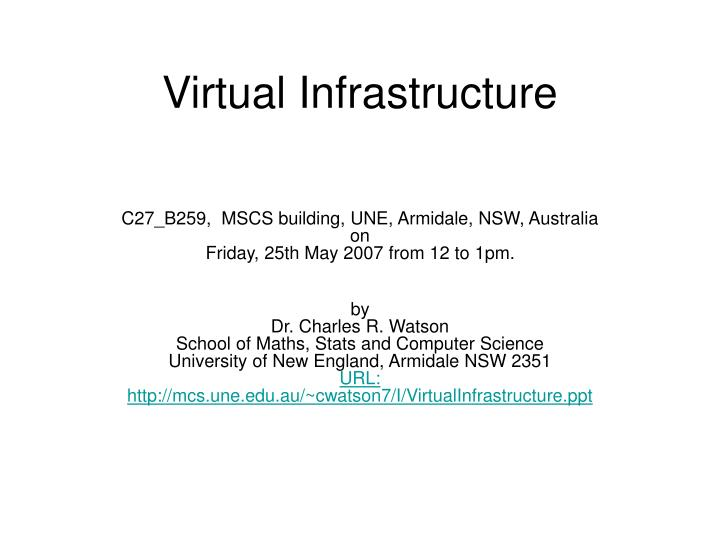 virtual infrastructure n.