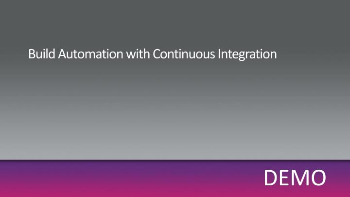 Build Automation with Continuous Integration
