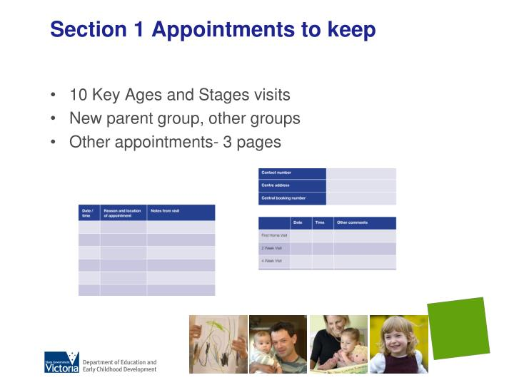 Section 1 Appointments to keep
