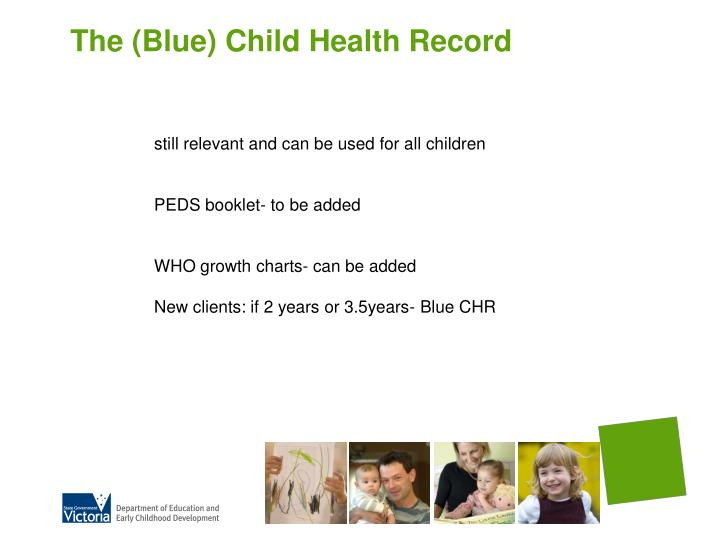 The (Blue) Child Health Record