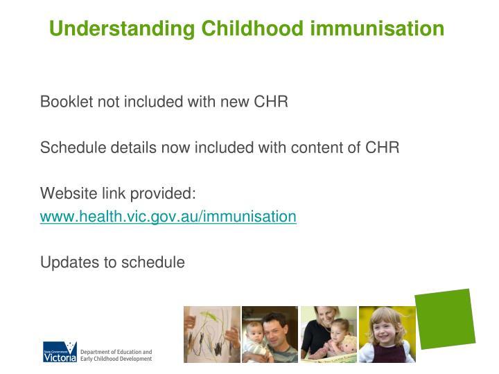 Understanding Childhood immunisation
