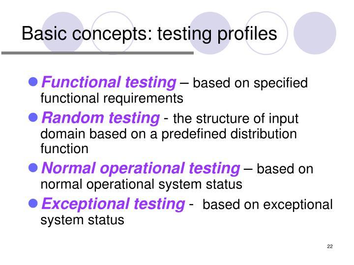 Basic concepts: testing profiles