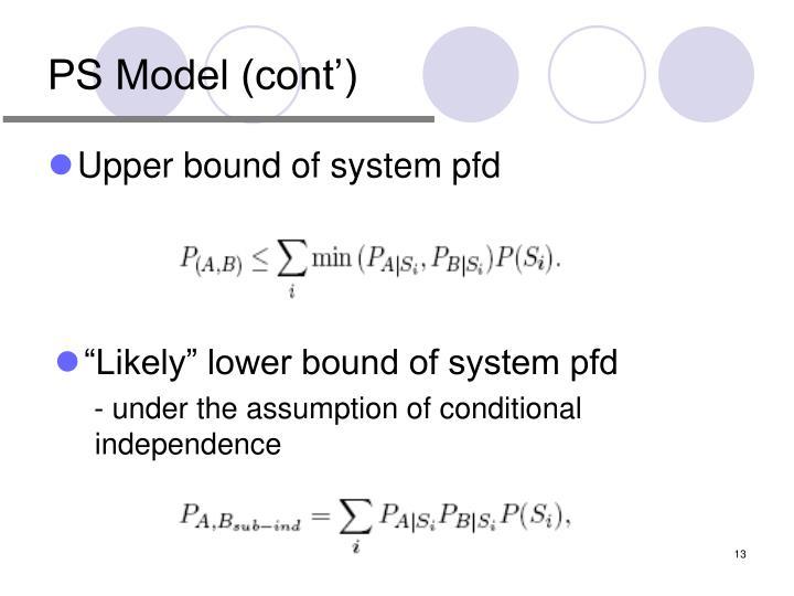 PS Model (cont')