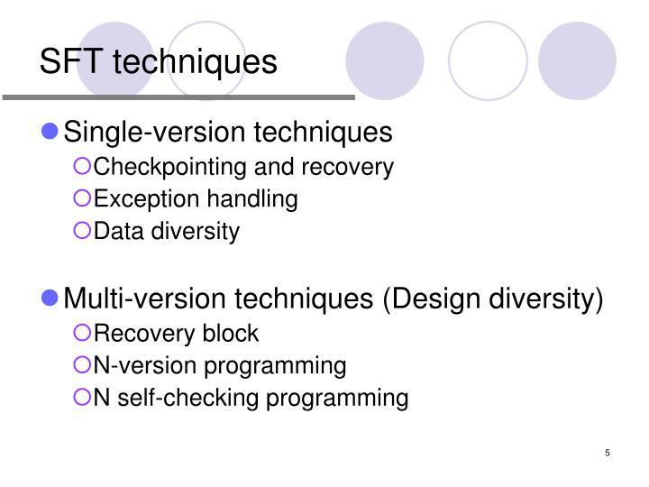 SFT techniques