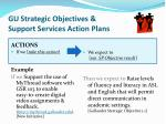 gu strategic objectives support services action plans