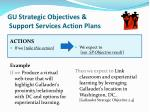 gu strategic objectives support services action plans1