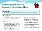gu strategic objectives support services action plans2