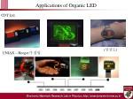 applications of organic led