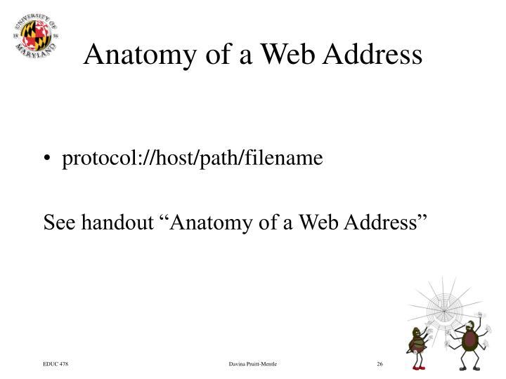 Anatomy of a Web Address