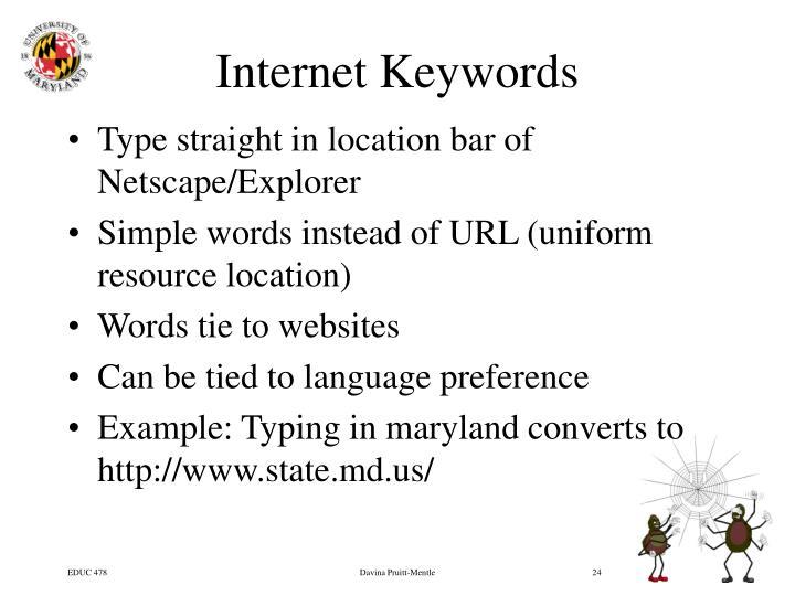 Internet Keywords