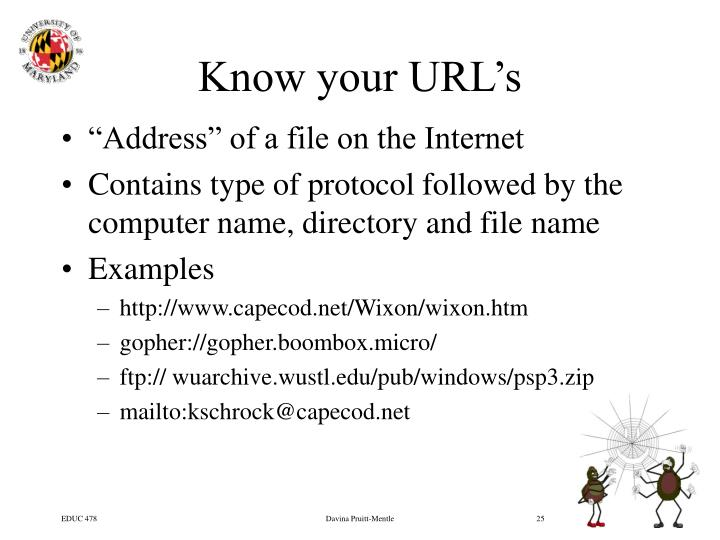 Know your URL's