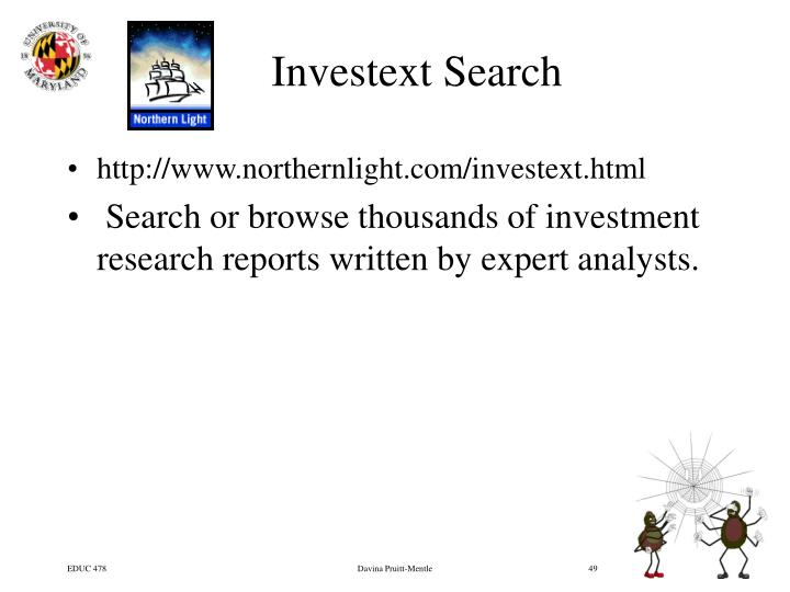 Investext Search