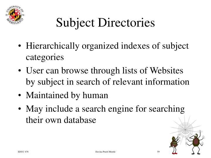 Subject Directories