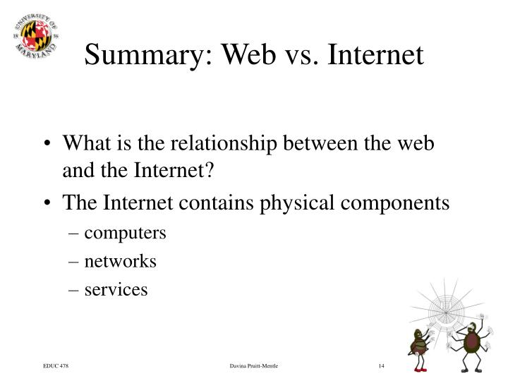 Summary: Web vs. Internet
