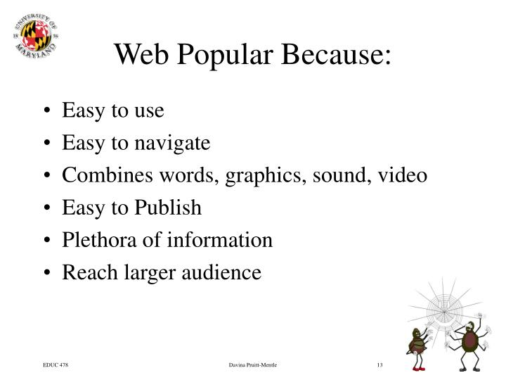 Web Popular Because: