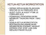 ketua ketua workstation