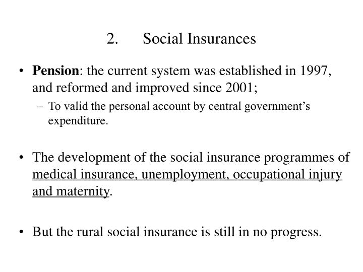2.Social Insurances