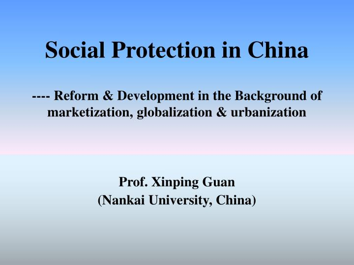 Social Protection in China