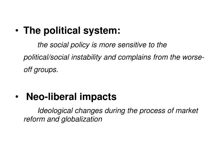 The political system: