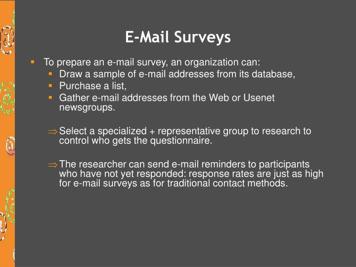 E-Mail Surveys