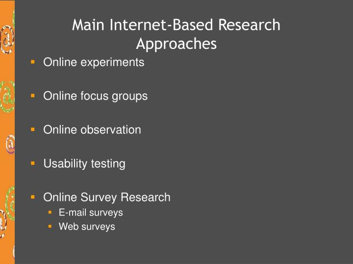 Main Internet-Based Research Approaches