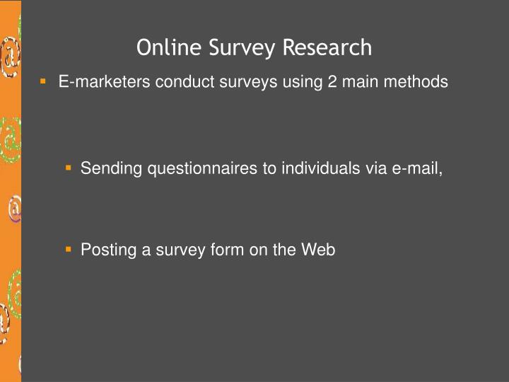 Online Survey Research