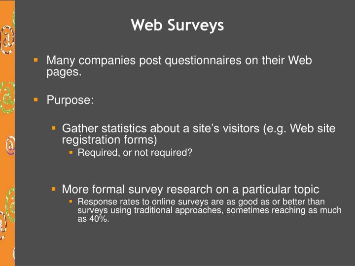 Web Surveys
