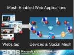 mesh enabled web applications