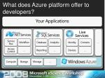 what does azure platform offer to developers1