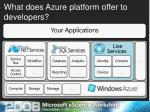 what does azure platform offer to developers2