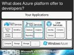 what does azure platform offer to developers3