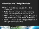 windows azure storage overview