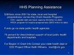 hhs planning assistance